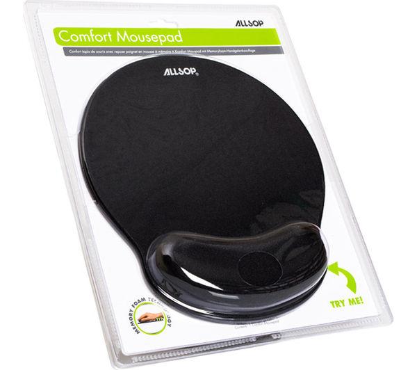 05940 allsop comfort mouse mat black currys pc world. Black Bedroom Furniture Sets. Home Design Ideas