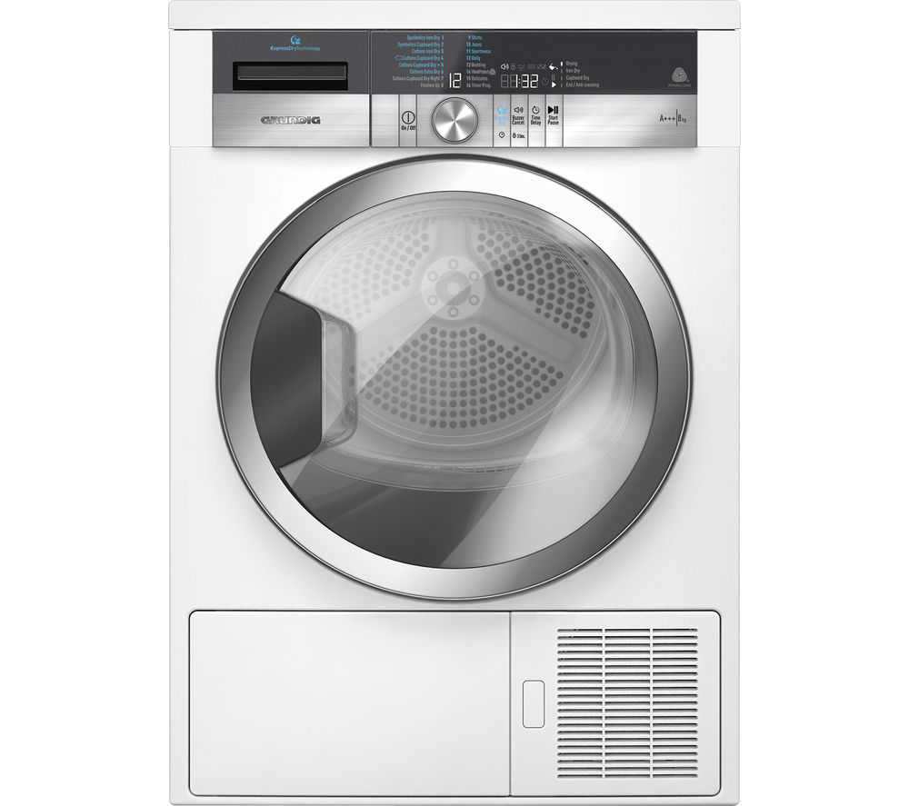 Tumble Dryer Temperature ~ Buy grundig gtn gcw heat pump tumble dryer white