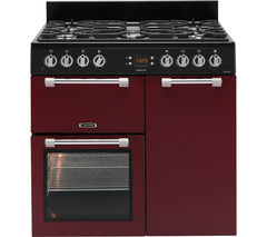 LEISURE Cookmaster 90 Dual Fuel Range Cooker - Red