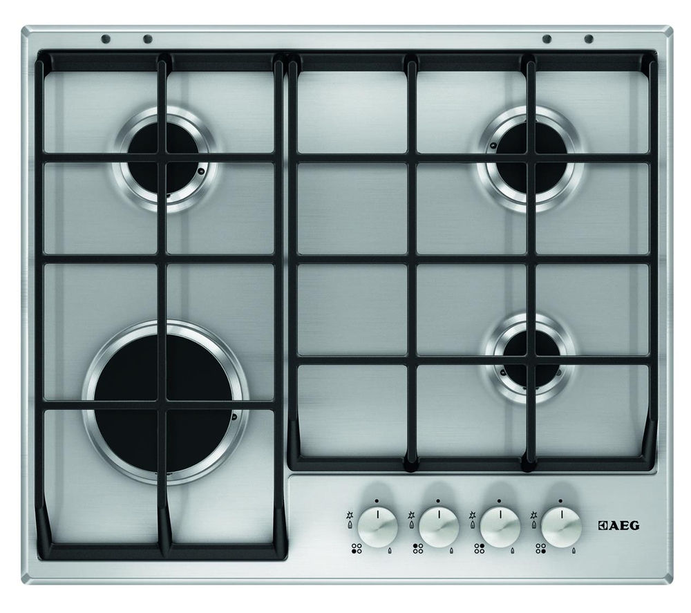 AEG  HG654350SM Gas Hob  Stainless Steel Stainless Steel