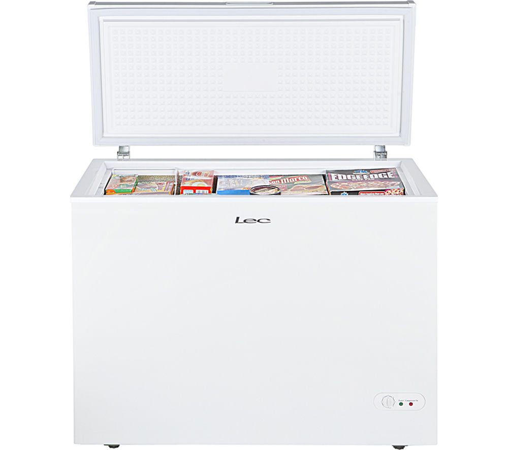 LEC  CF300L Chest Freezer  White White