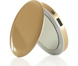 HYPER Pearl Make-Up Mirror 3K Portable Power Bank - Gold