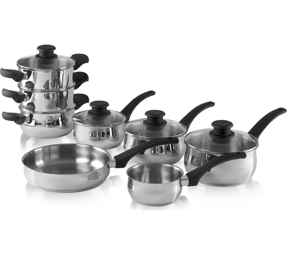 Stainless Steel Towers : Buy tower t piece pan set stainless steel free
