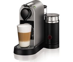 NESPRESSO by Krups Citiz & Milk XN760B40 Coffee Machine - Silver