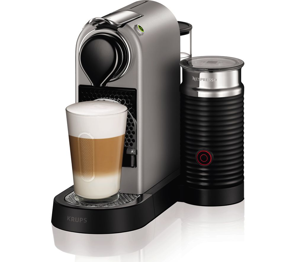 buy nespresso by krups citiz milk xn760b40 coffee machine silver free delivery currys. Black Bedroom Furniture Sets. Home Design Ideas