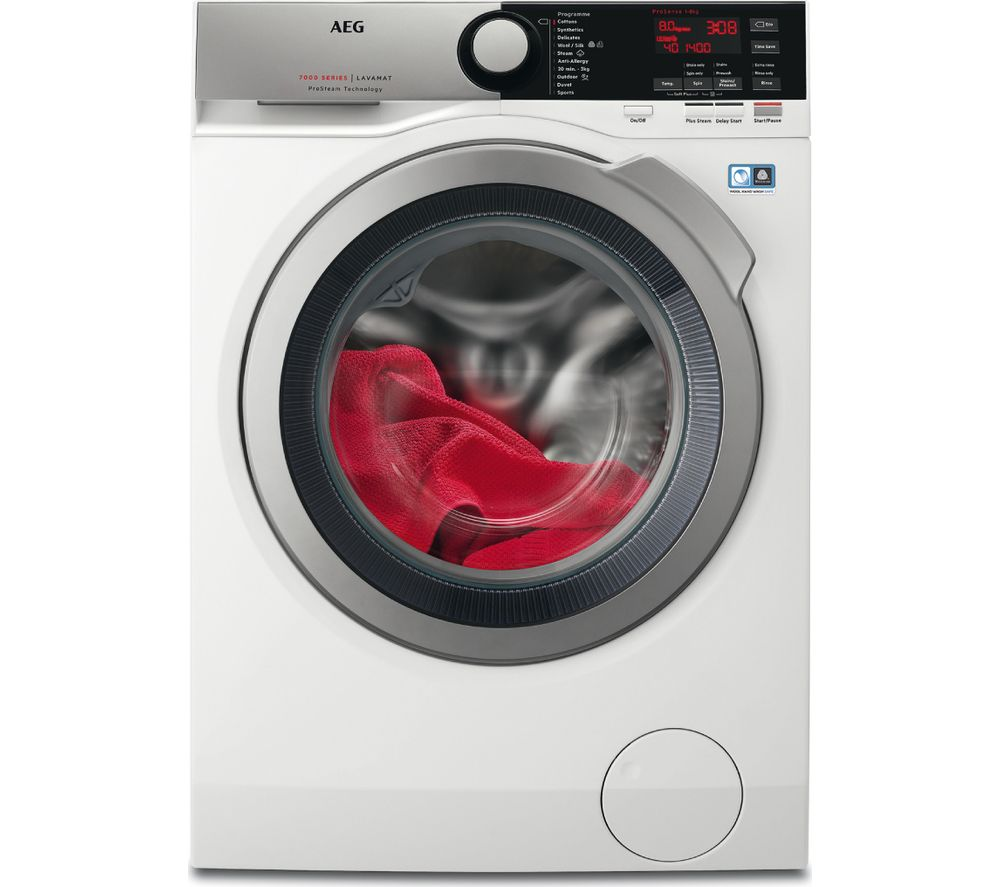 AEG ProSteam L7FEE865R Washing Machine  White White