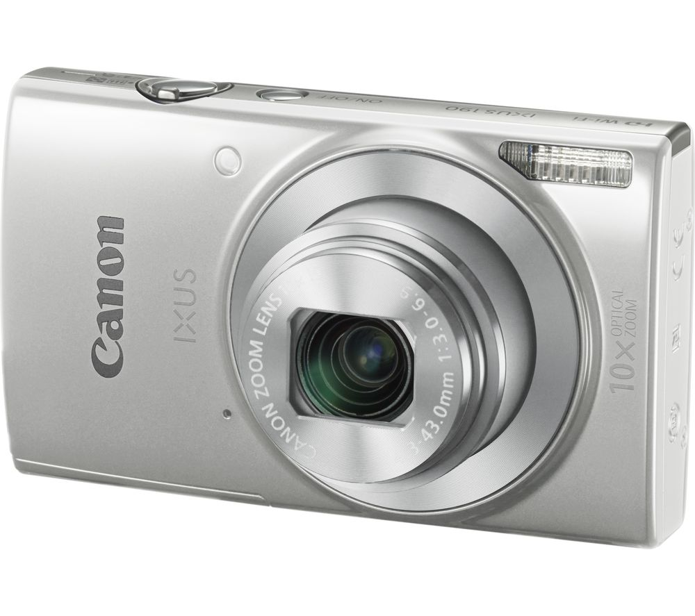 buy canon ixus 190 compact camera silver free delivery currys. Black Bedroom Furniture Sets. Home Design Ideas