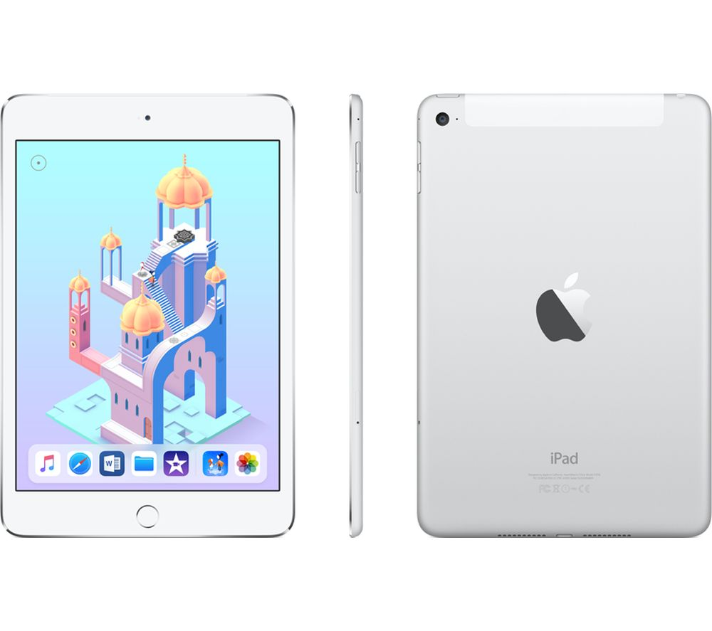 APPLE iPad mini 4 Cellular - 128 GB, Silver