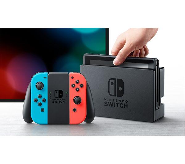 Buy Nintendo Switch Neon Red Amp Mario Kart 8 Bundle Free
