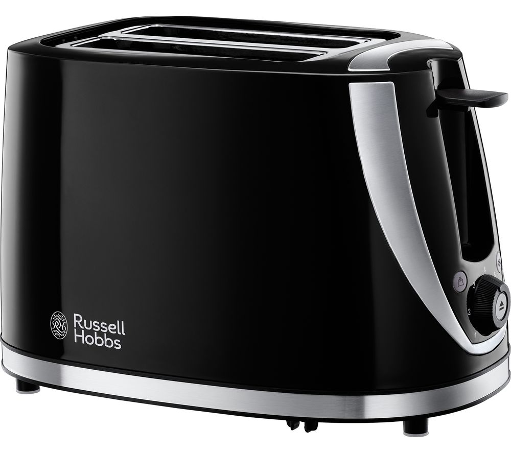 buy russell hobbs mode 21410 2 slice toaster black free delivery currys. Black Bedroom Furniture Sets. Home Design Ideas
