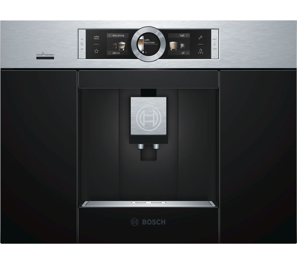 Image of BOSCH CTL636ES6 Built-In Bean to Cup Smart Coffee Machine - Stainless Steel, Stainless Steel