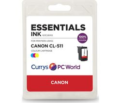 ESSENTIALS C511 Tri-colour Canon Ink Cartridge