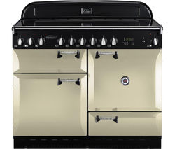 RANGEMASTER Elan 110 Electric Ceramic Range Cooker - Cream & Chrome