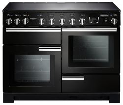 RANGEMASTER Professional Deluxe 110 Induction Range Cooker - Black & Chrome