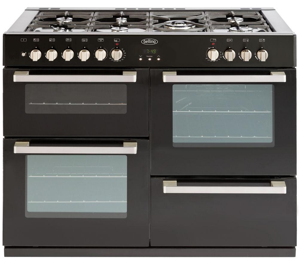 BELLING DB4 110DF Dual Fuel Range Cooker - Black