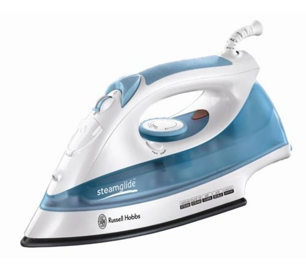 Http Www Currys Co Uk Gbuk Home Appliances Ironing Irons Russell Hobbs Steamglide 15081 Steam Iron White Blue 06767182 Pdt Html
