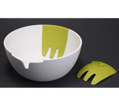JOSEPH JOSEPH HOSB011CB Hands-on Salad Bowl & Servers - White