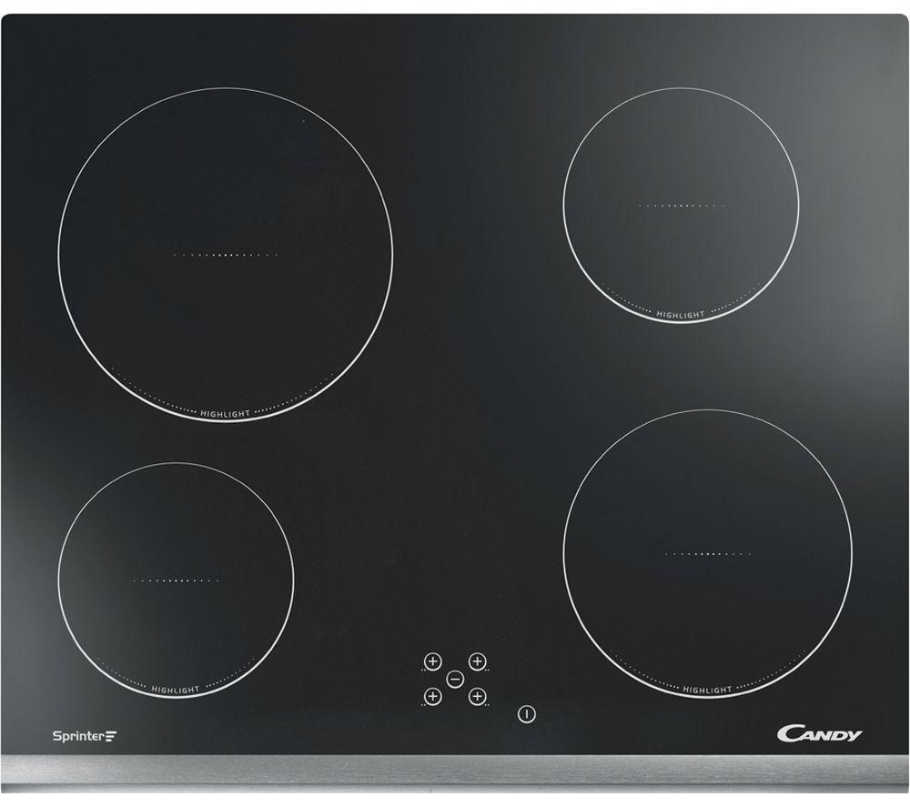Image of CANDY CH64X Hi-Light Electric Ceramic Hob - Black, Black