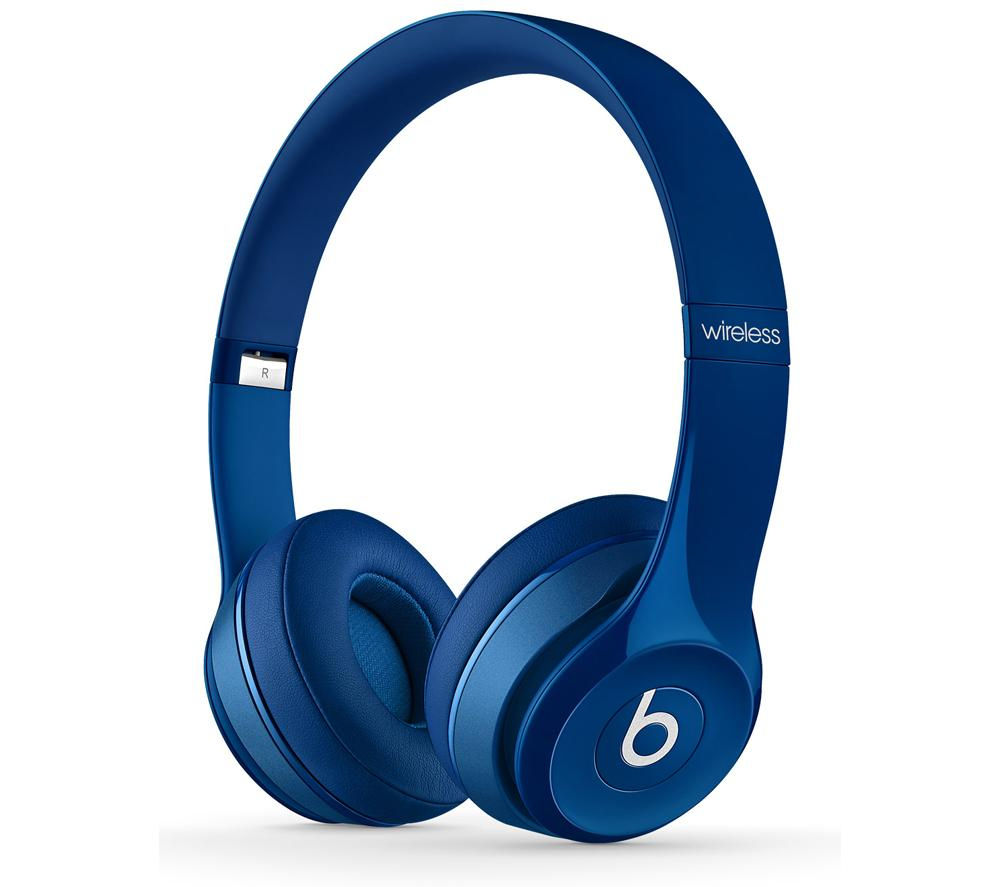 beats by dr dre solo 2 wireless bluetooth headphones blue. Black Bedroom Furniture Sets. Home Design Ideas