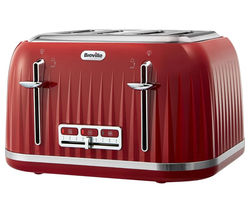 BREVILLE Impressions VTT783 4-Slice Toaster - Venetian Red