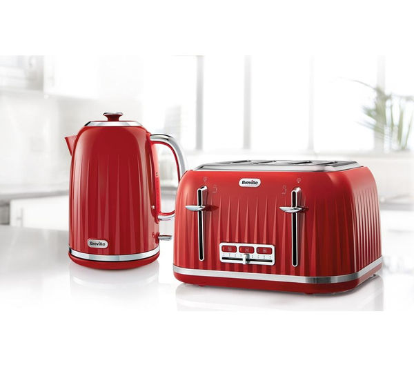 buy breville impressions vtt783 4 slice toaster venetian red free delivery currys. Black Bedroom Furniture Sets. Home Design Ideas