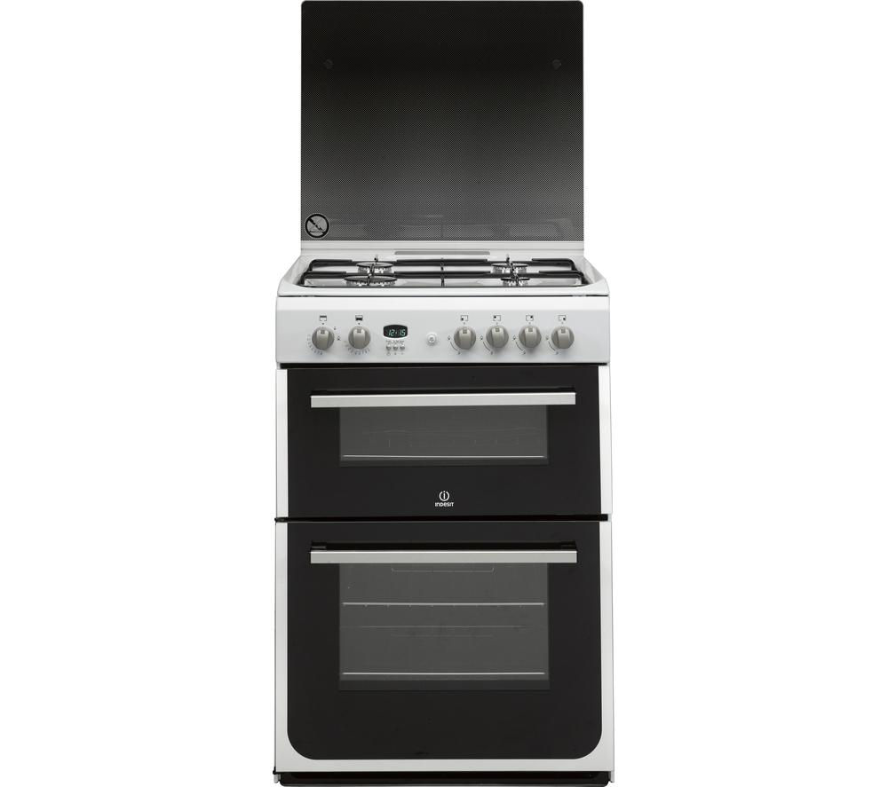 INDESIT DD60G2CGW 60 cm Gas Cooker - White