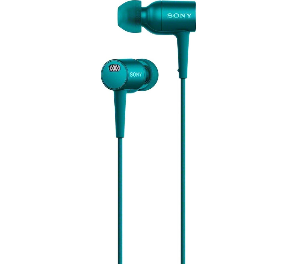 Click to view more of SONY  h.ear in NC MDR-EX750NAL Noise-Cancelling Headphones - Viridian Blue, Blue