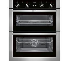 NEFF U17M42N5GB Electric Built-under Double Oven - Stainless Steel
