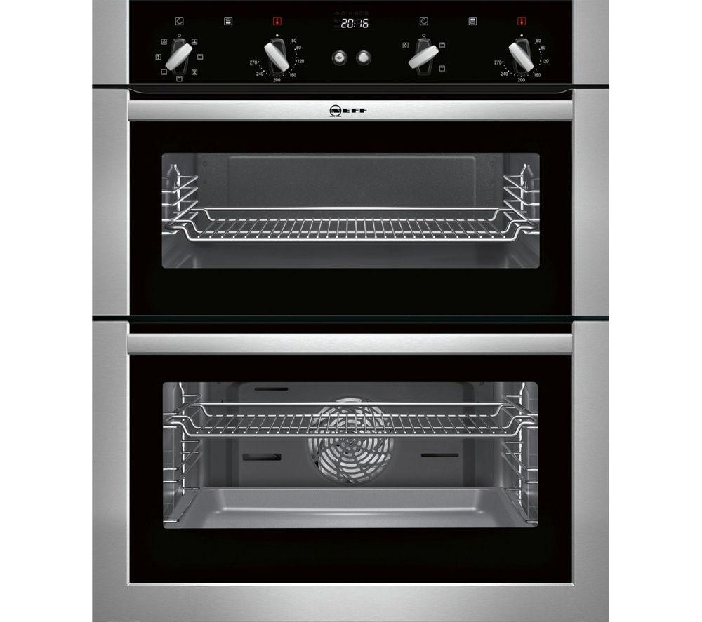buy neff u17m42n5gb electric built under double oven stainless steel free delivery currys. Black Bedroom Furniture Sets. Home Design Ideas
