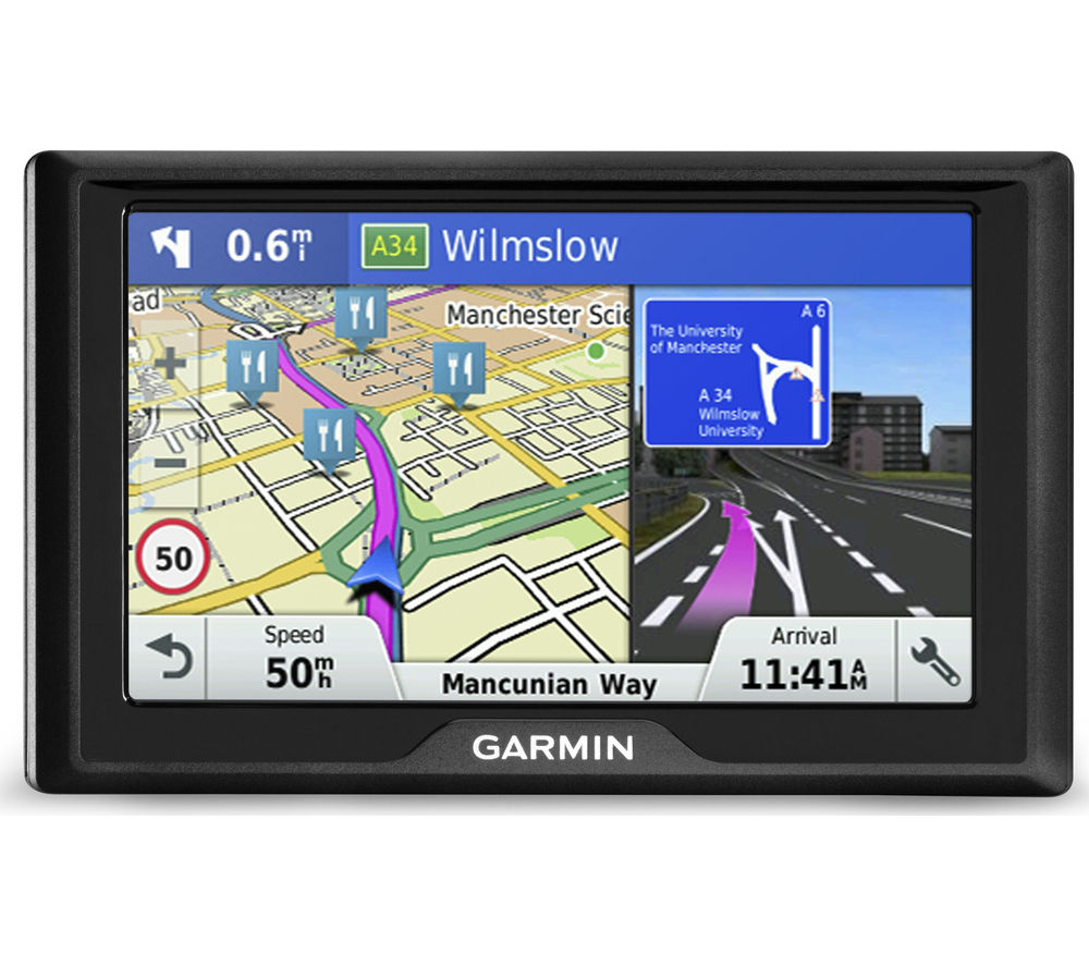 """GARMIN Drive 50 LM UK 5"""" Sat Nav - with UK & ROI Maps & Carrying Case"""