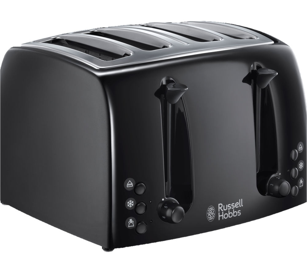 buy russell hobbs textures 21651 4 slice toaster black free delivery currys. Black Bedroom Furniture Sets. Home Design Ideas
