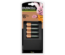 DURACELL CEF15 15 Minute Charger with 4 AA Batteries