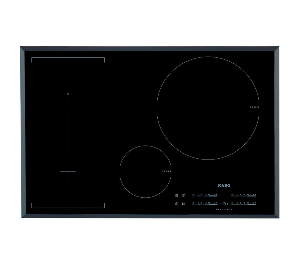 buy aeg hk854320fb induction hob black free delivery currys. Black Bedroom Furniture Sets. Home Design Ideas