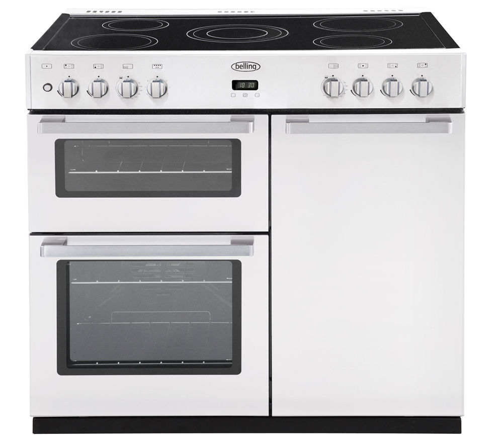 Electric Range Cookers ~ Buy belling db e electric ceramic range cooker white