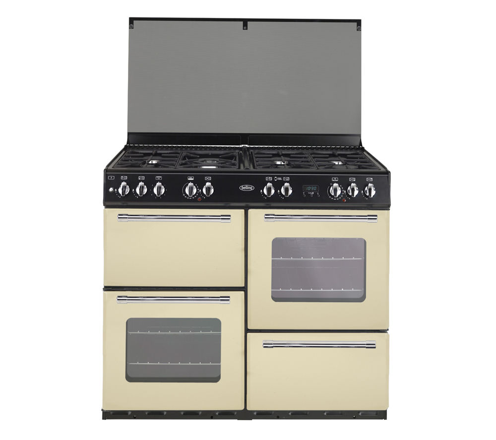 BELLING Country Range 100DFT Dual Fuel Range Cooker - Cream