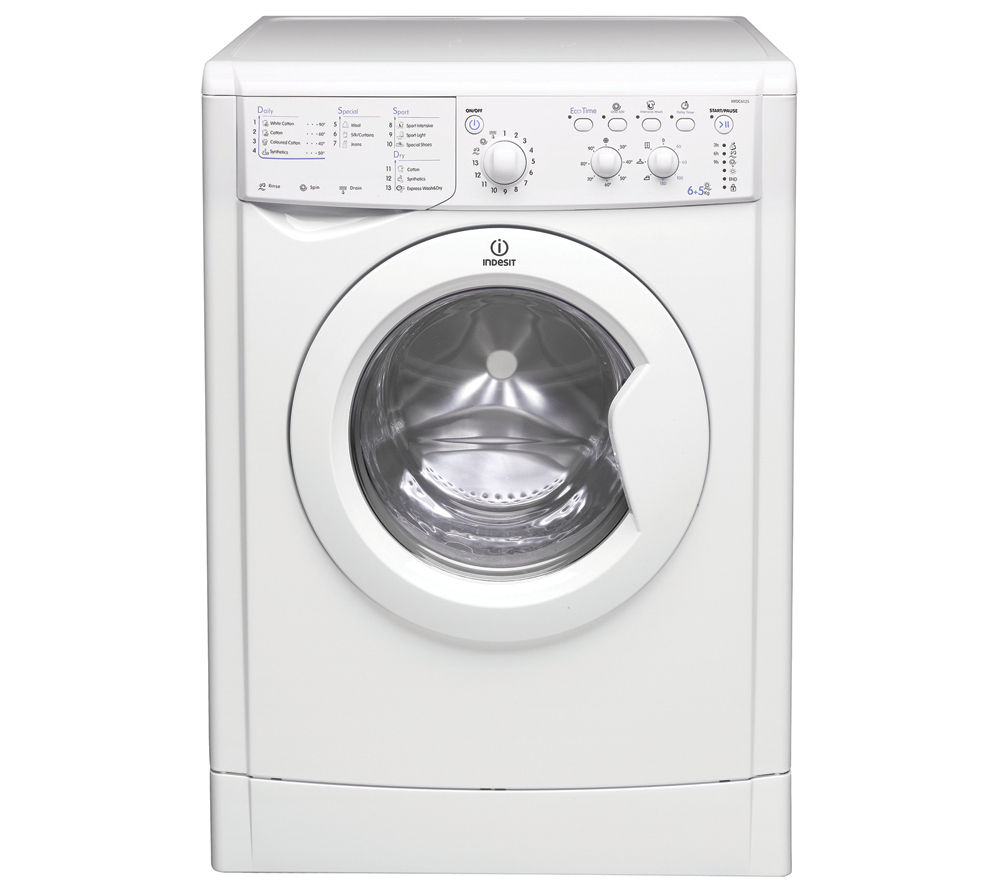 buy indesit iwdc 6125 washer dryer white free delivery currys. Black Bedroom Furniture Sets. Home Design Ideas