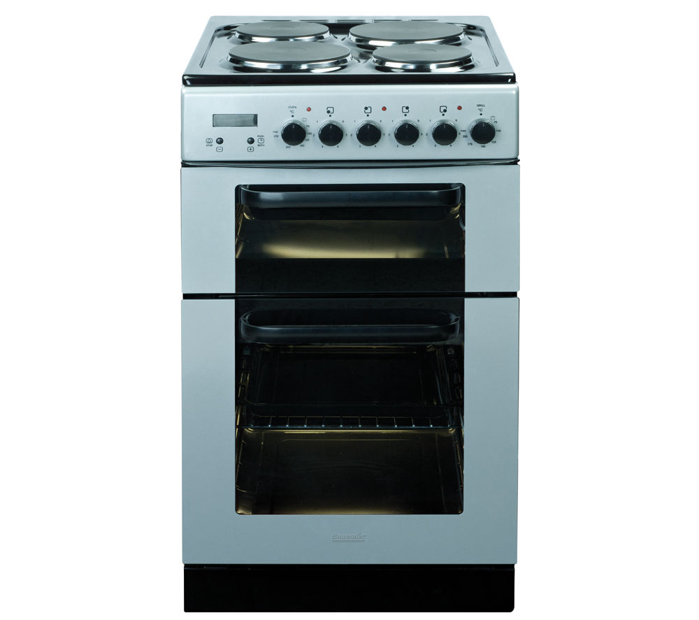 BAUMATIC BCE520SL Electric Solid Plate Cooker - Silver
