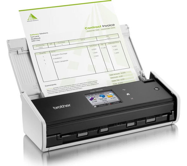 Image of BROTHER ADS1600W Compact Wireless Document Scanner