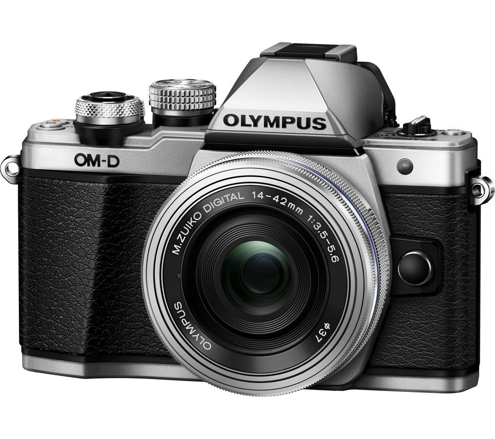OLYMPUS E-M10 Mark II Compact System Camera with 14-42 mm f/3.5-5.6 Zoom Lens - Silver