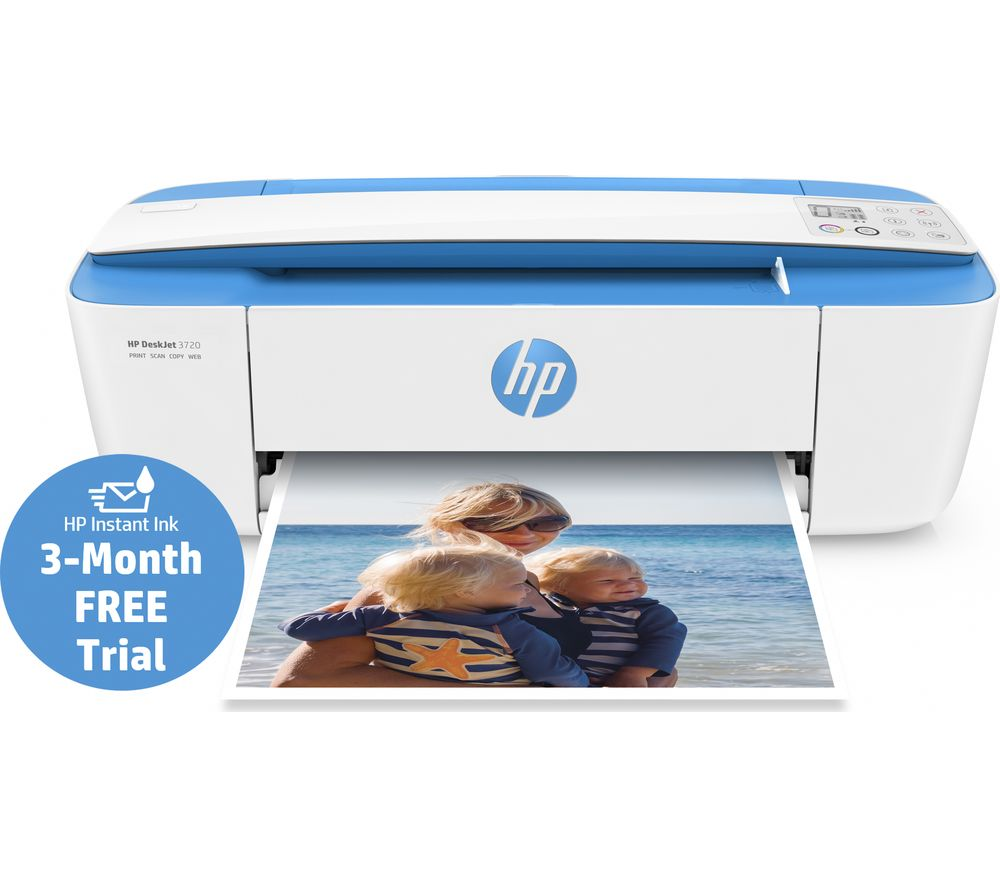 Image of HP DeskJet 3720 All-in-One Wireless Inkjet Printer