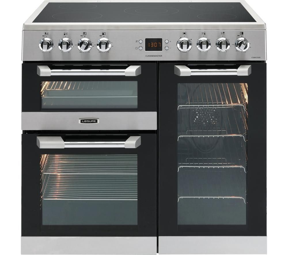LEISURE Cuisinemaster CS90C530X Electric Ceramic Range Cooker - Stainless Steel