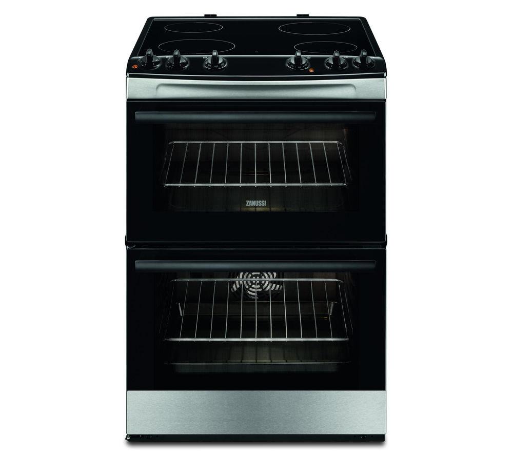 Uncategorized Zanussi Kitchen Appliances buy zanussi zcv660ctx 60 cm electric cooker stainless steel steel