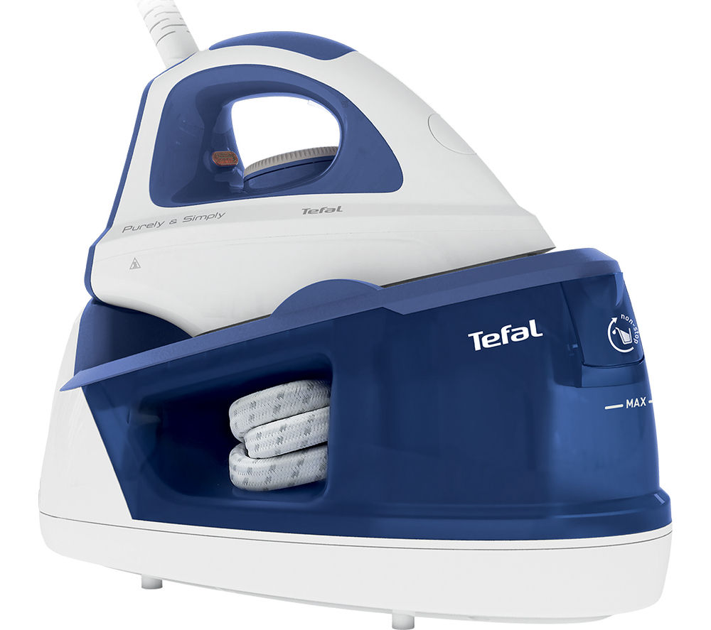 Tefal Steam System SV5021G0 Steam Generator Iron (Blue & White)