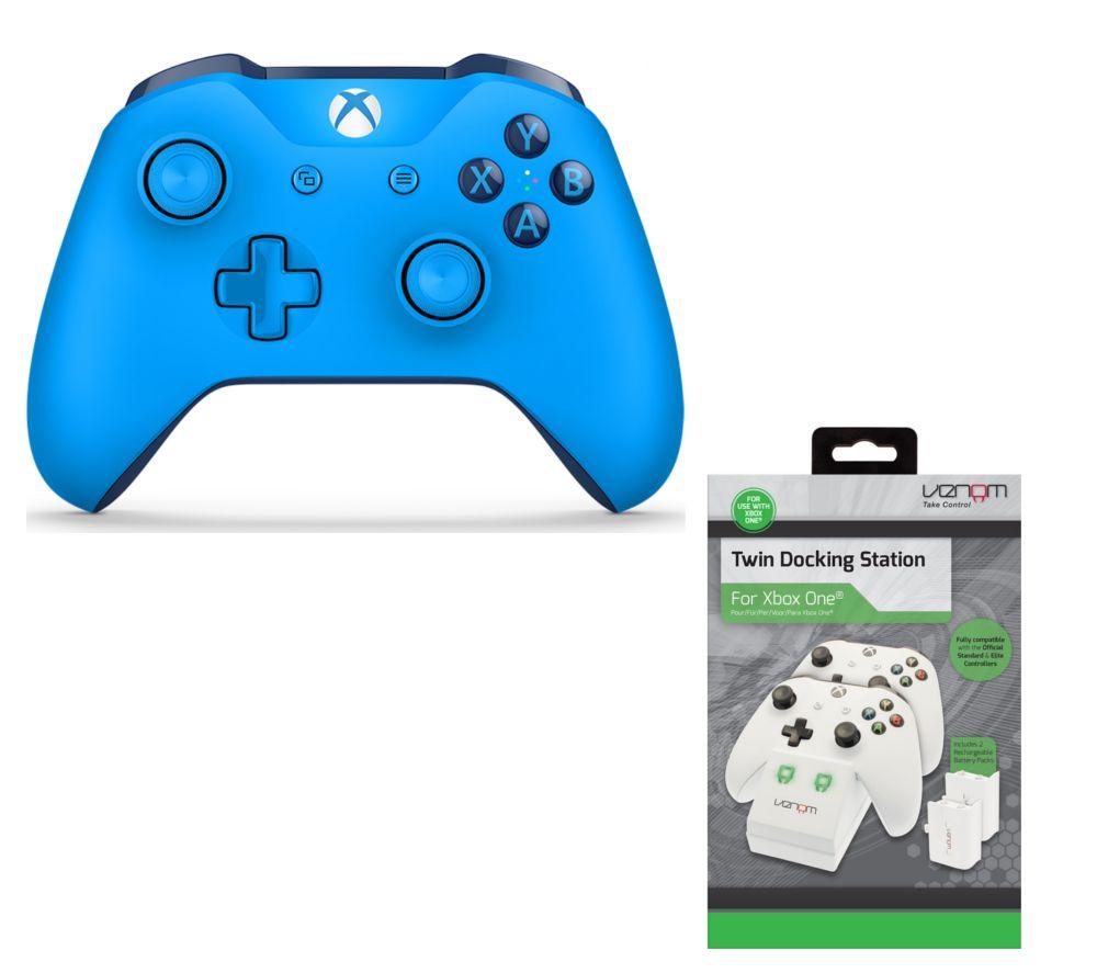 MICROSOFT Xbox One Wireless Gamepad & VS2859 Xbox One Twin Docking Station Bundle