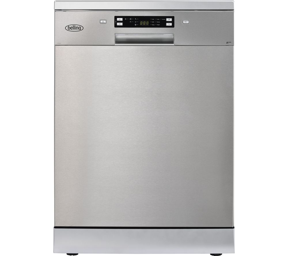 Image of BELLING FDW150 Full-size Dishwasher - Silver, Silver