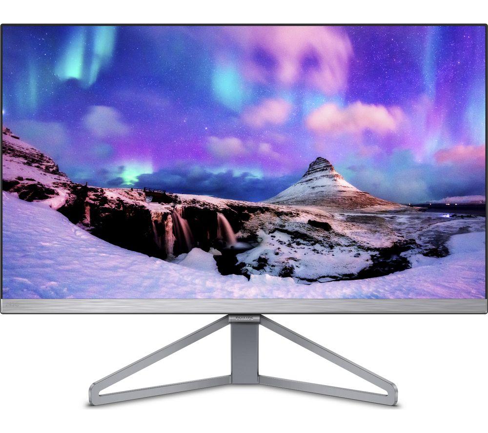 "PHILIPS 245C7QJSB Full HD 23.8"" IPS LED Monitor - Silver & Black"