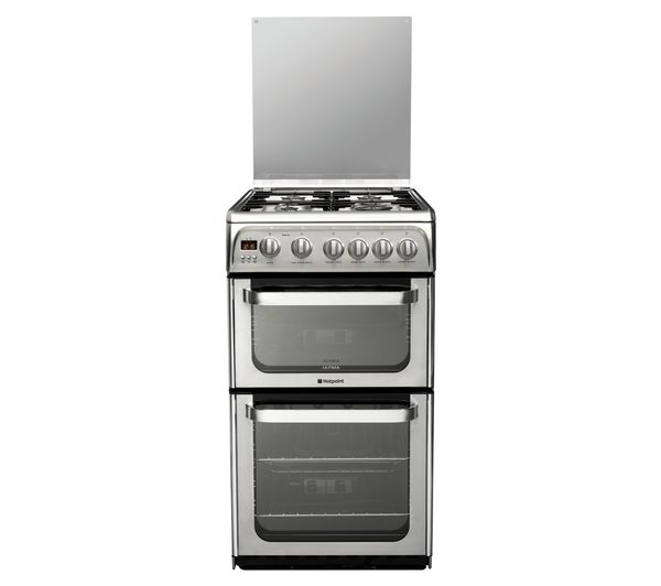 HOTPOINT HUG52X Gas Cooker - Stainless Steel