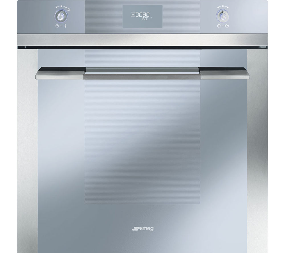 SMEG  Linea SFP109 Electric Oven - Stainless Steel +  P1641XT Gas Hob - Stainless Steel