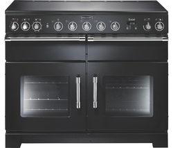 RANGEMASTER Excel 110 Induction Range Cooker - Black & Chrome
