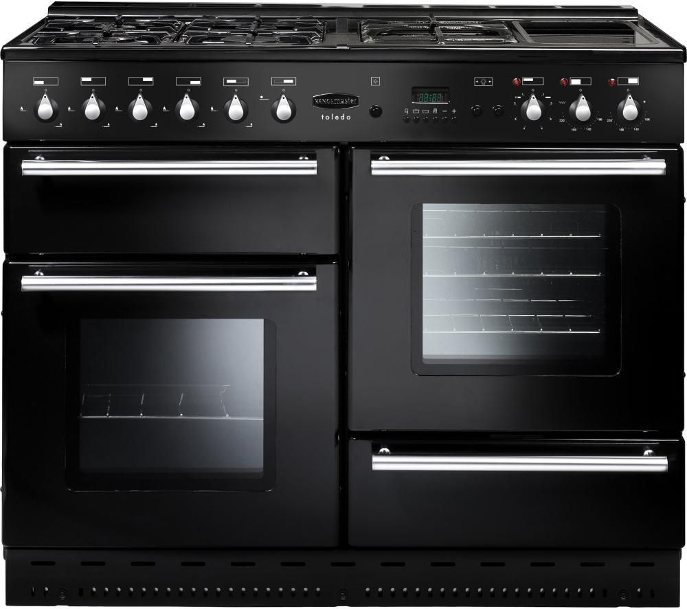 RANGEMASTER  Toledo 110 Gas Range Cooker  Black & Satin Black